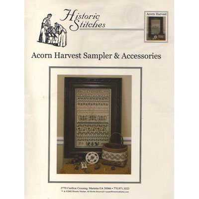 NEW !! Acorn Harvest Sampler & Accessories - A Cross Stitch Pattern