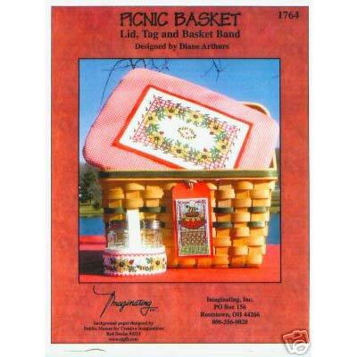 Picnic Basket Lid Cross Stitch Pattern