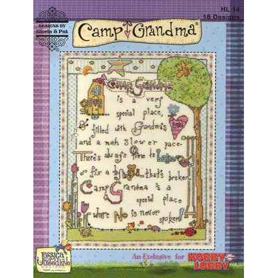 NEW !! Camp Grandma  - 18 Cross Stitch Patterns