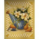 Magnolias And Pears Needlepoint Canvas