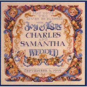 Joy & Love Wedding Sampler Cross Stitch Pattern