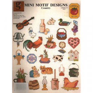 Mini Motif Designs Country  Cross Stitch Patterns