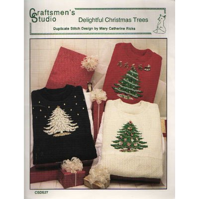 Delightful Christmas Trees Duplicate Stitch Pattern