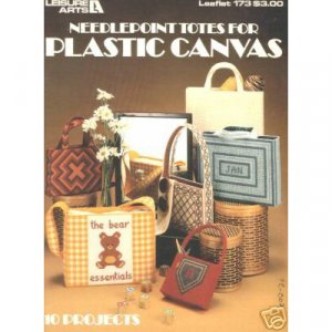 Leisure Arts Needlepoint Totes  for Plastic Canvas