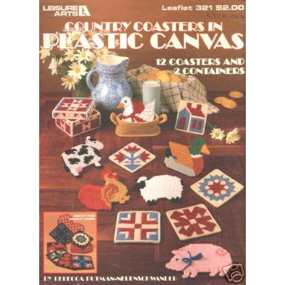 Leisure Arts Country Coasters in Plastic Canvas