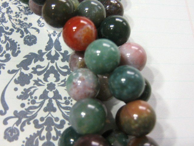 Indian Agate Gemstone Beads 4mm Round