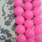 Opaqu Pink 4mm Round Glass Beads
