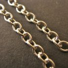 Cross Chain Raw 3.5x2.5mm Silver Plated 8 Feet Findings