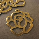 Rose Charm Flower 20mm Antique Bronze Finish
