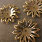 Bead Caps Spike Flower 18mm Antiqued Bronze Nickel Free