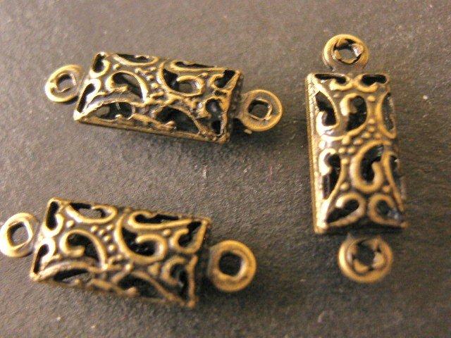 Findings Filigree Connectors 16x5mm Links Antique Bronze Finish