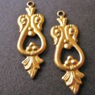 Drop Chandelier Setting Raw Brass Victorian Pendants 8x25mm