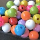 Assorted Opaque Colors 8mm Round Plastic Beads