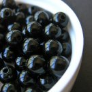 Black 6mm Round Acrylic Beads