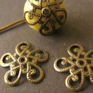 Filigree Bead Caps 13mm Antique Bronze