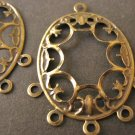 Filigree Pendant Antique Bronze 28x38mm