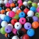 Assorted Opaque 6mm Round Plastic Beads