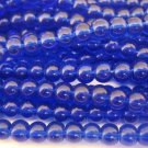 4mm Round Cobalt Blue Glass Beads