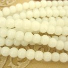 Milk White 4mm Round Glass Beads