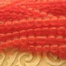 Transparent Red 4mm Round Glass Beads