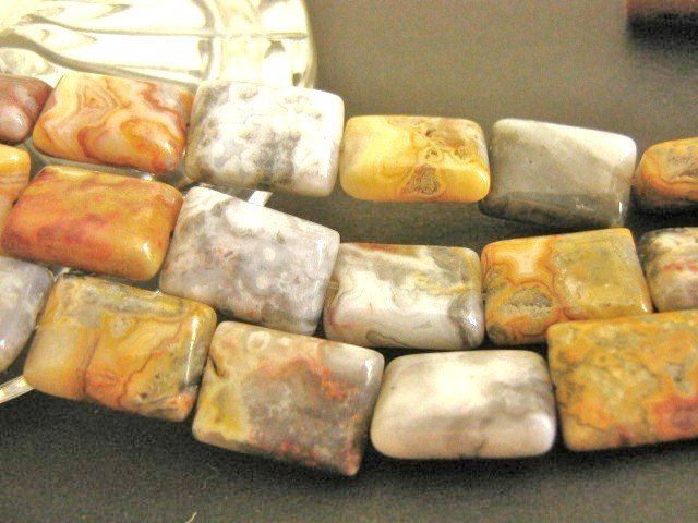 Crazy Lace Agate Gemstone Beads Rectangle 10x15mm
