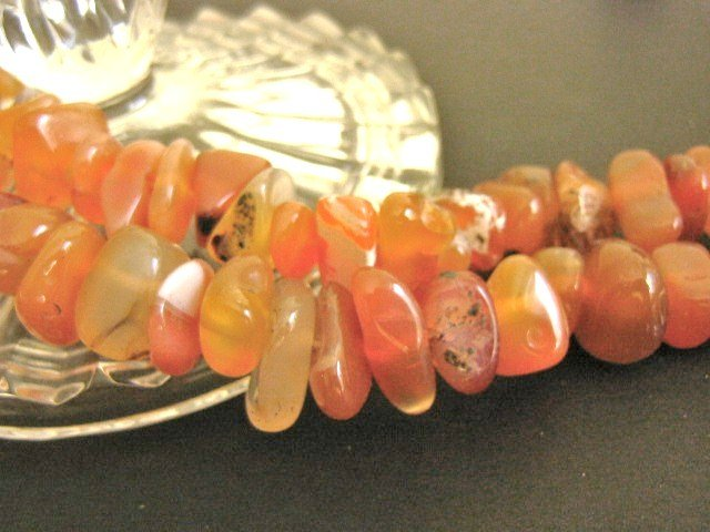 Light Red Agate Gemstone Beads 11mm - 16mm Nuggets