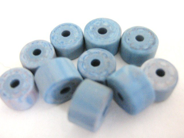 Blue Marble 5x7mm Heshi Rondelle Vintage Lucite Beads
