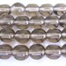 Gray 3 Cut Triangle 8mm Round Czech Glass Beads