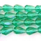 Zircon Green Czech Glass Beads 5x7mm Faceted Teardrops