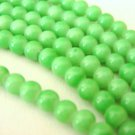 Sherbert Green Opaque Glass Beads 6mm Round
