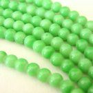 Opaque Green Sherbert 8mm Round Glass Beads