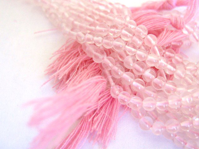 Rose Quartz 3mm - 4mm Round Gemstone Beads