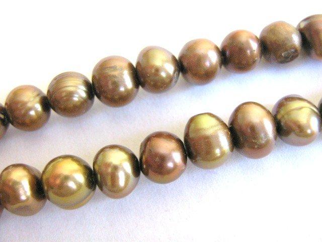 Cinammon Brown 6mm Potato Freshwater Pearls Beads