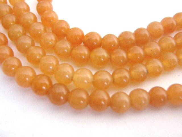 Red Aventurine 6mm Round Gemstone Beads