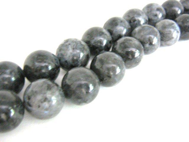 Larvikite Beads 11mm Round Gemstones