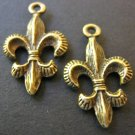 Charms Fleur de Lis 14x24mm Antique Bronze