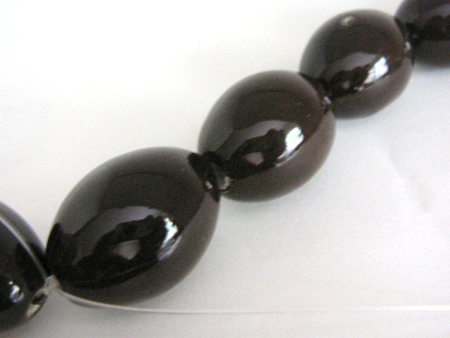 Brown 36x28mm Oval Porcelain Beads