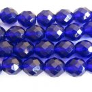 Cobalt Blue Czech Glass Beads 6mm Faceted Round