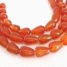 7x10mm Teardrop Carnelian Gemstone Beads