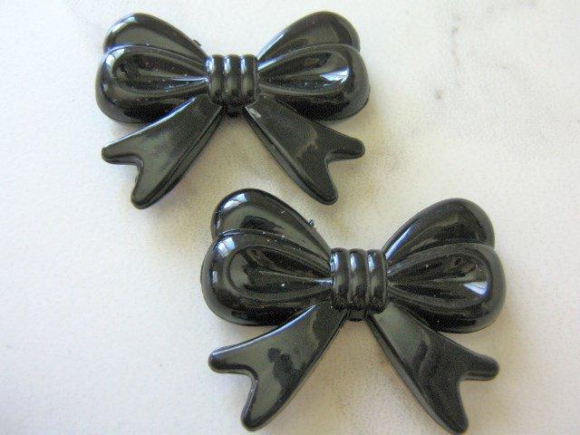 Black 46mm Bow Knot Beads Acrylic Chunky Bubblegum