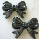 Black 46mm Bow Knot Beads Acrylic Chunky Bubblegum