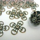Filligree Bead Caps 15mm Antique Copper Finish