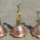 HANGING NAUTICAL MARINE CEILING CARGO PENDANT DECK BRASS &COPPER LIGHT Set 5 PCS