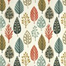 McAlister Textiles Magda Floral Burnt Orange Fabric