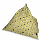McAlister Textiles Laila Ochre Yellow + Grey Bean Bag Chair