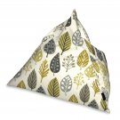 McAlister Textiles Magda Ochre Yellow + Grey Bean Bag Chair