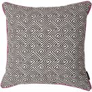 "McAlister Textiles Acapulco Black + White Abstract Cushion Cover - 16"" Size"