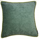"McAlister Textiles Alston Chenille Duck Egg + Green Cushion Cover - 16"" Size"