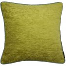 "McAlister Textiles Alston Chenille Green + Duck Egg Cushion Cover - 16"" Size"