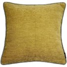 "McAlister Textiles Alston Chenille Yellow + Grey Cushion Cover - 16"" Size"